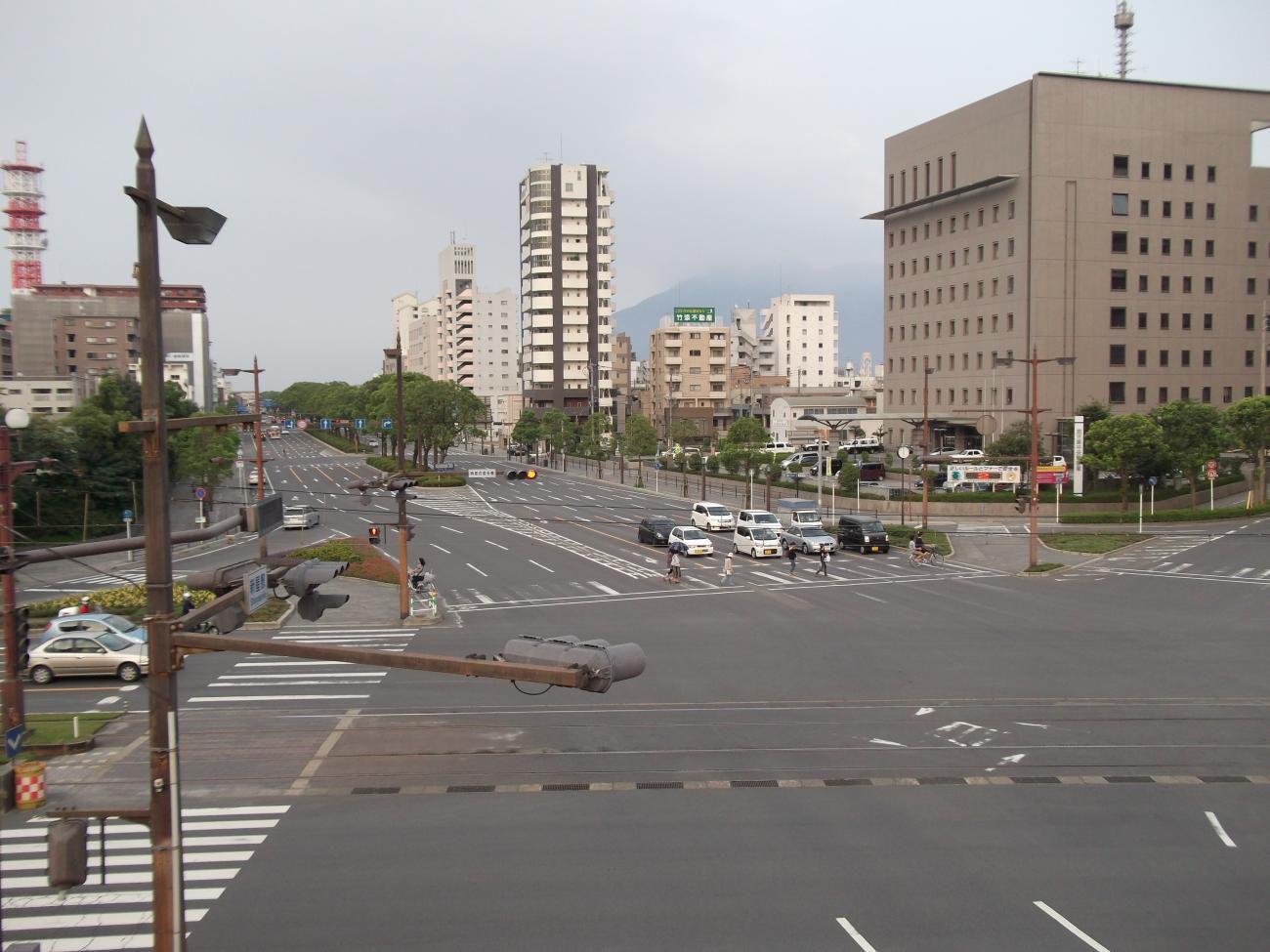 桜島がうっすりと